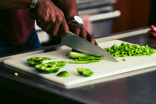 CHOPPING PEPPERS_FOOD INTERRUPTED_PLANTS