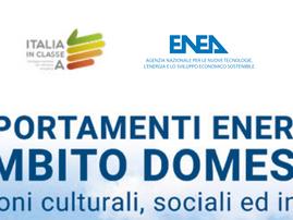 """Nuova pubblicazione di ENEA """"I comportamenti energetici in ambito domestico"""""""