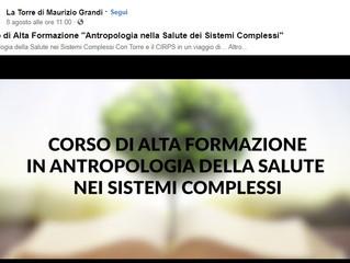 """Corso """"Antropologia nella Salute dei Sistemi Complessi"""", dal 9 novembre"""
