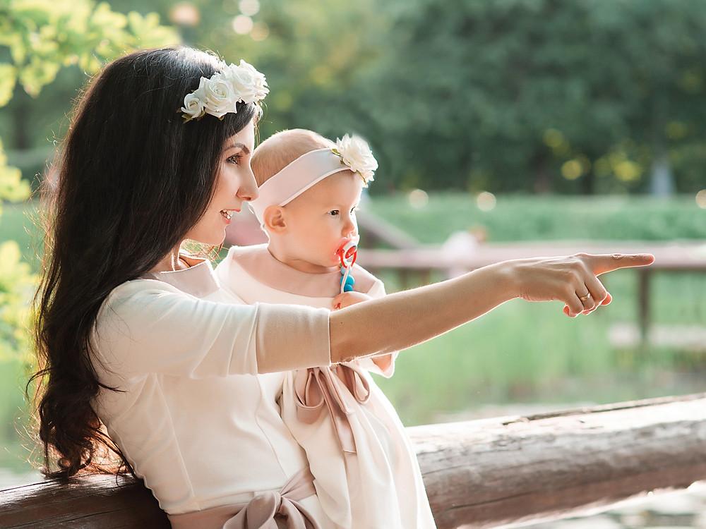 Фотосессия для мамы и дочки в Москве. Подходящие венки, повязки и ободочки в Москве