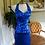 Thumbnail: Vintage Royal Blue 90's Club Retro Full Sequin Stretch Hot Dress Sam Suri L