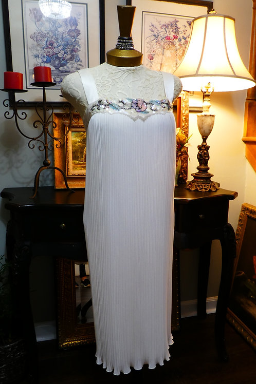 Vintage long white gown