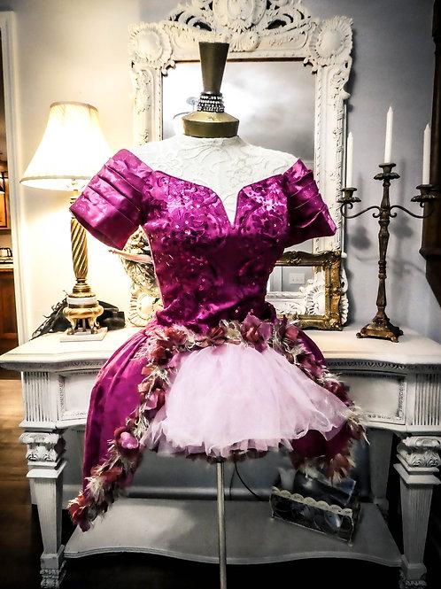 Vintage enchanted pink sparkle dress
