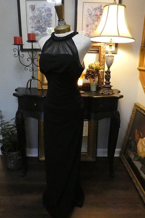 Vintage sheer long black gown
