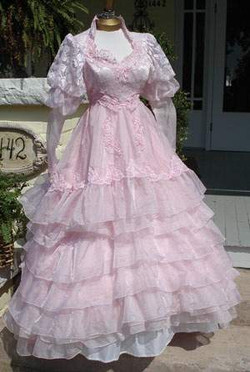 Custom Tinted Vintage Wedding Gown