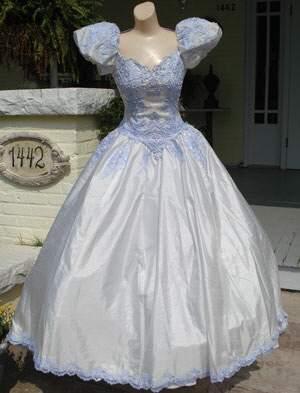 Custom Tinted Vintage Wedding Gown