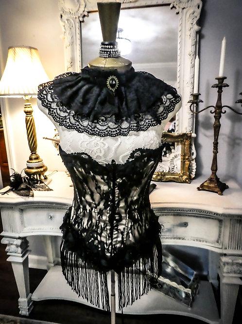 Vintage lace ruffled corset