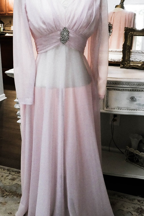 Vintage Sheer Old Holly Wood Boudoir Evening Gown