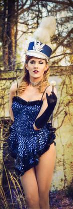 Majorette Using Vintage Dress and Access