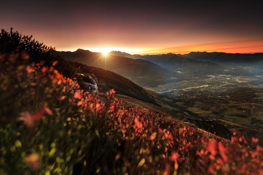 Sunset sur le Hautacam