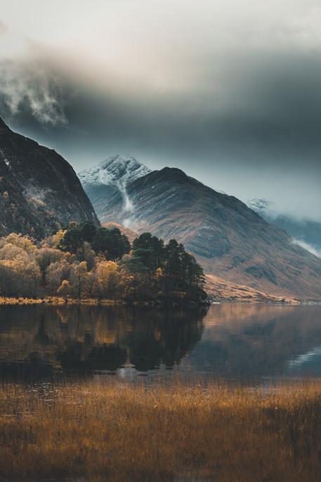 Lumière divine sur le Loch Shield