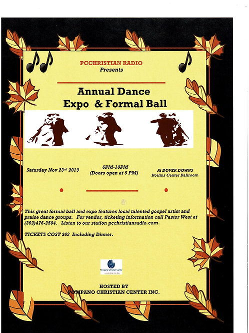 Annual Dance Expo& Formal Dinner Ticket