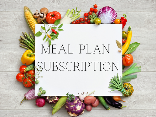 Meal Plan Subscription- 6 month