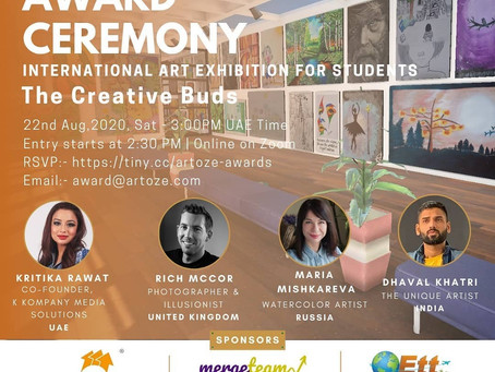 ARTOZE International Art Exhibition For Students - The Creative Buds