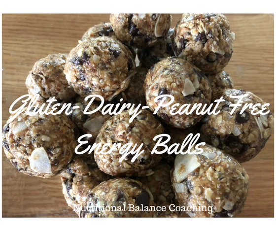 Gluten-Dairy-Peanut Free Energy Balls