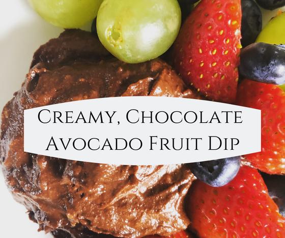 Creamy, Chocolate Avocado Fruit Dip