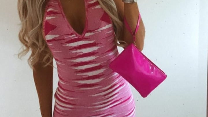 Sonia Dress in Pink