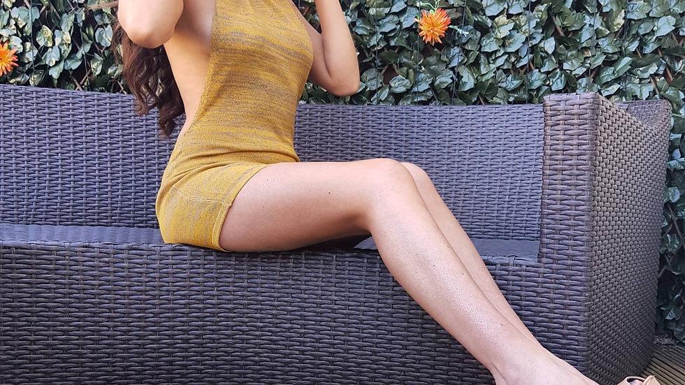 Lila Dress in Ochre