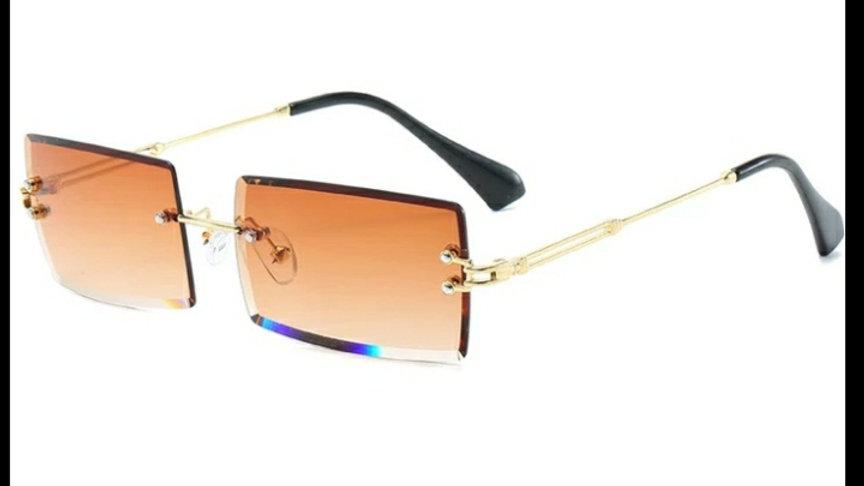 Frameless Retro Sunglasses