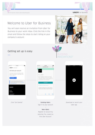 Uber for Business; BI is onboard