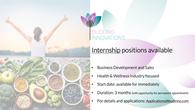 Internship positions available for immediate start