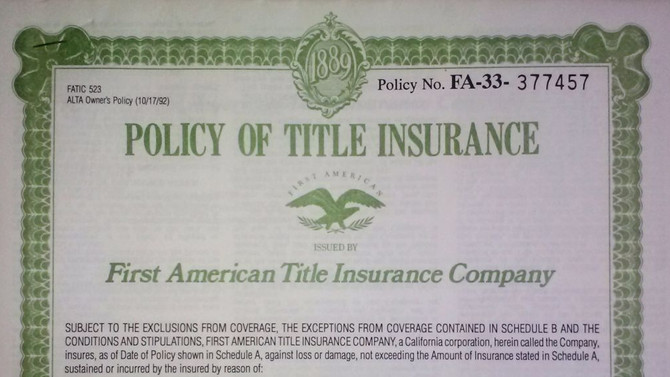 What is Title Policy?
