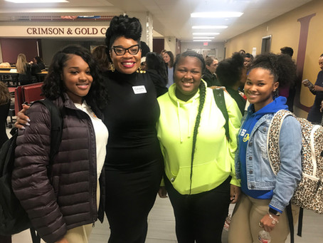 EmpowHERment Event with Jack Yates High School's future women leaders!