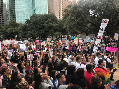 Proud sponsor of Houston's Women March On Event at City Hall!!