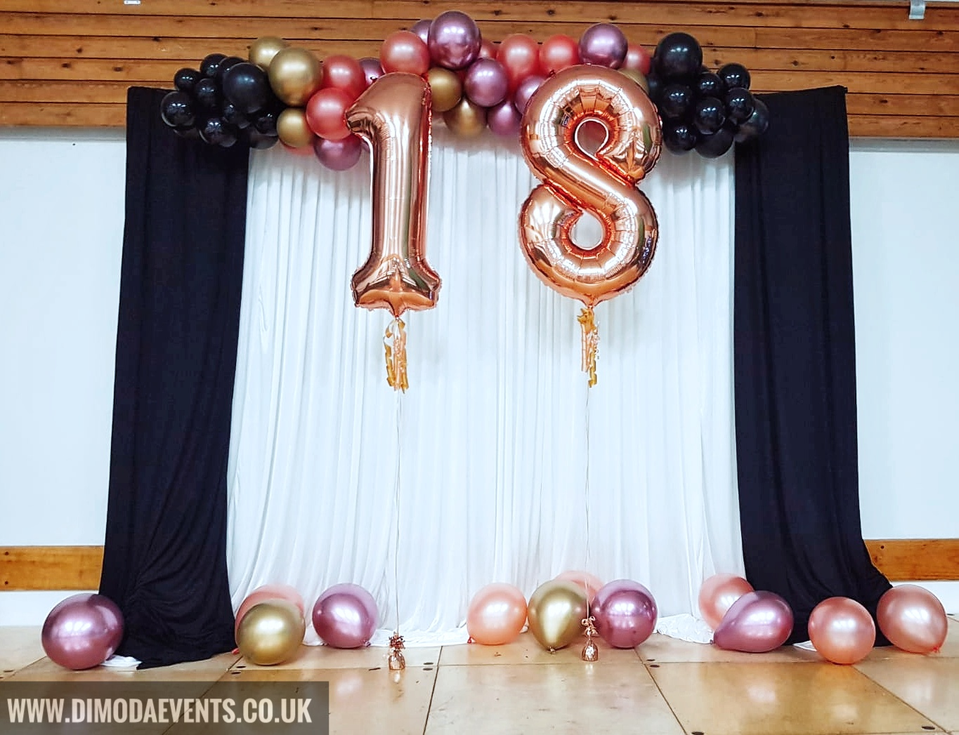 Birthday Number Backdrop - Rosegold