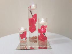 Cylinder Trio Red/White