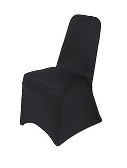 Black Lycra Spandex Chair Covers