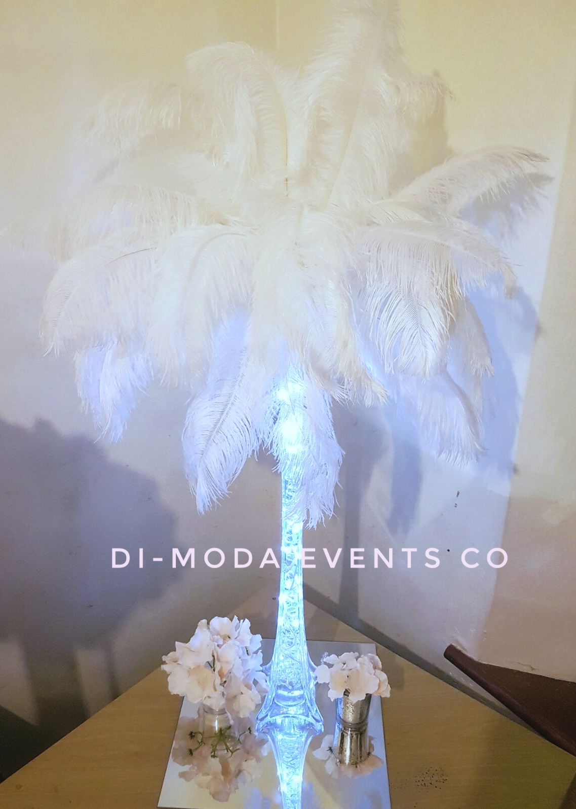 Bridal Feather Centrepiece
