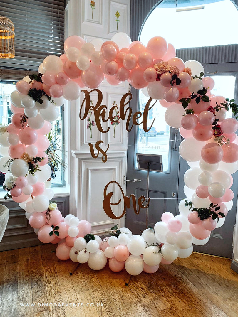 Large Hoop Balloon Garland Wreath