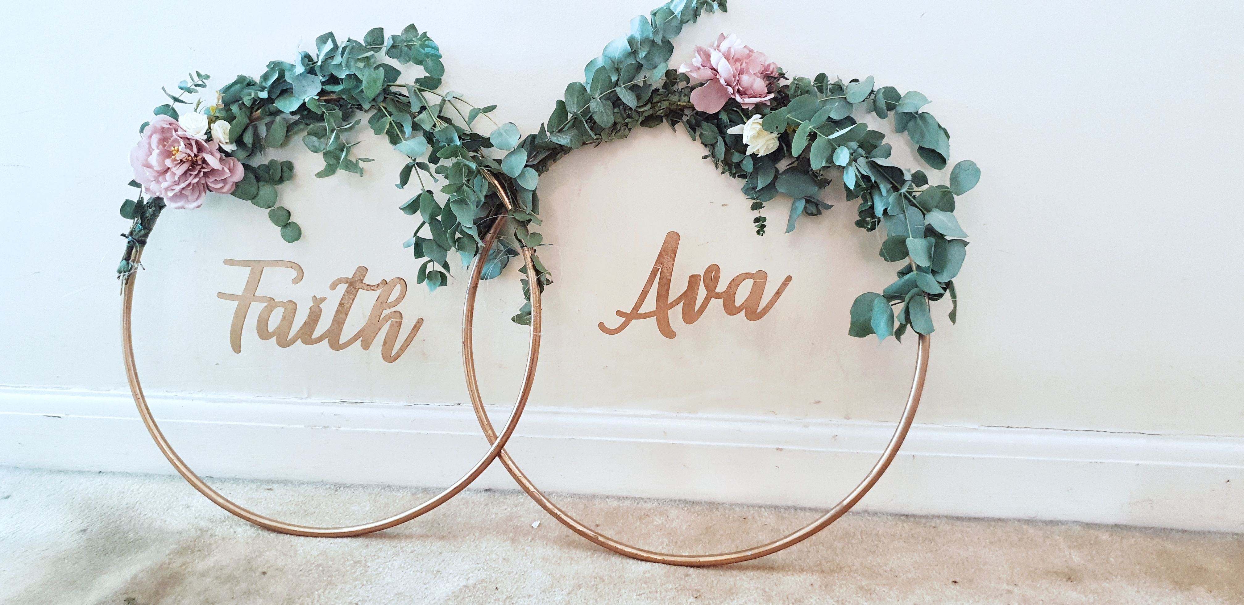 Fresh Eucalyptus Hoop Garlands