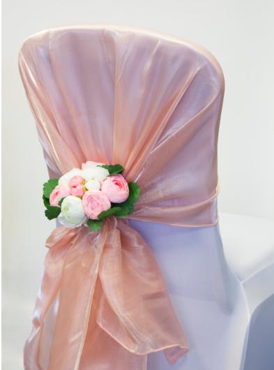 Silk organza hoods
