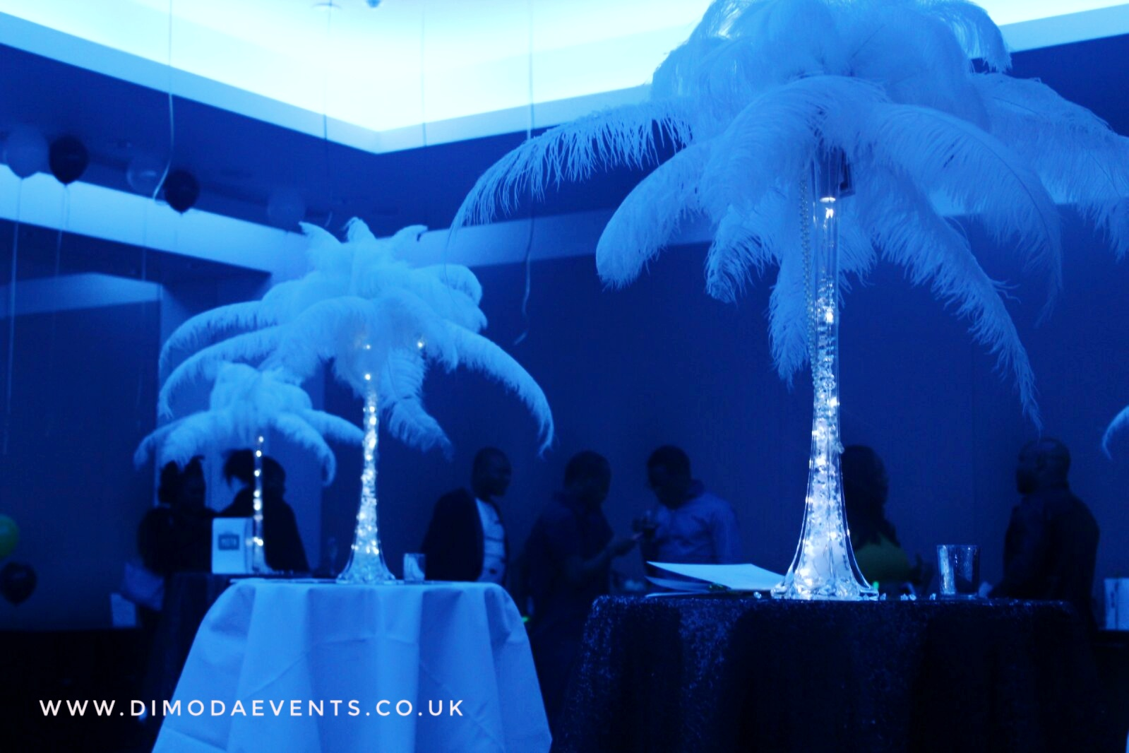 Ostrich Feather Centrepiece