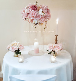 Perplex cylinder roses (Head Table)