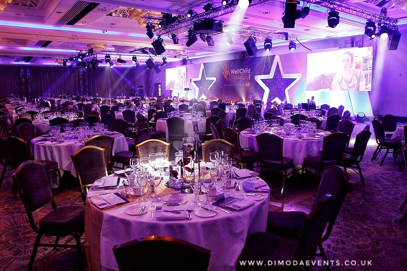 WellChild Awards Table Decor