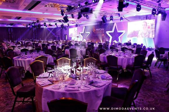 WellChild Awards Table Decor