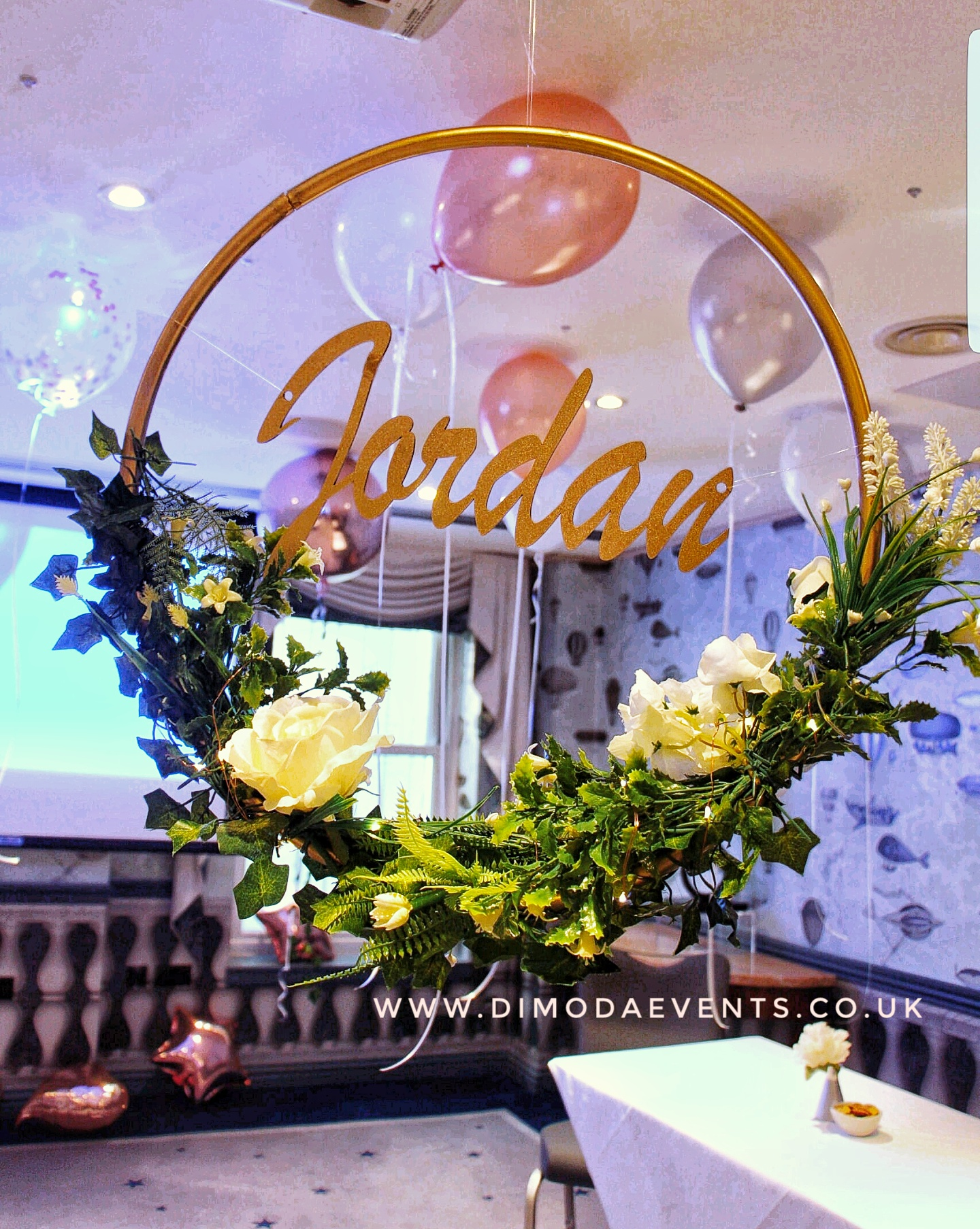 Floral Hoop Wreath Customised