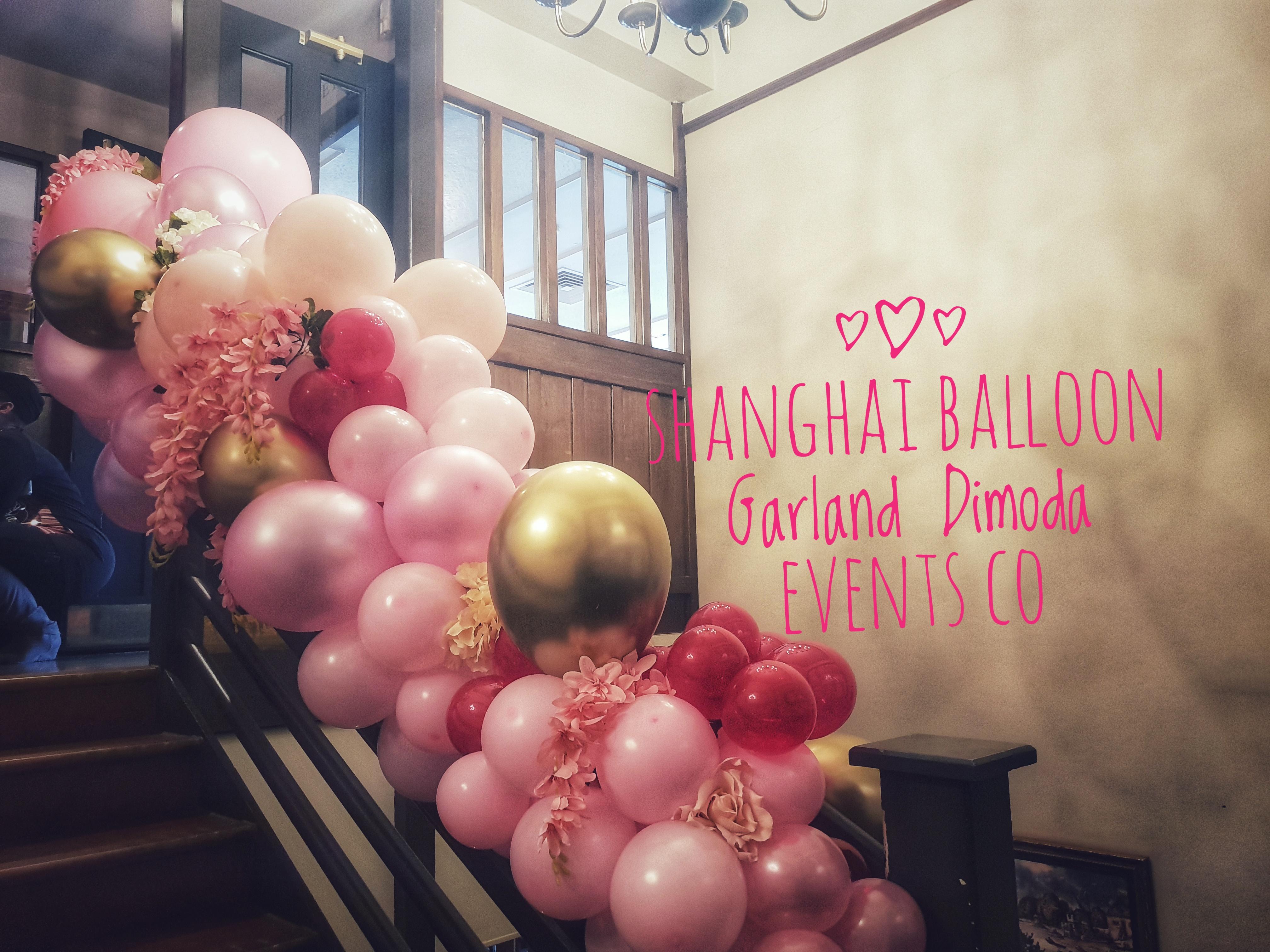 Shanghai Balloon Garland Staircase