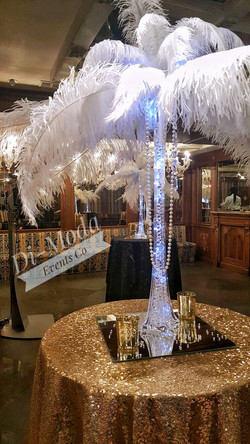Great Gatsby Feather Centrepiece