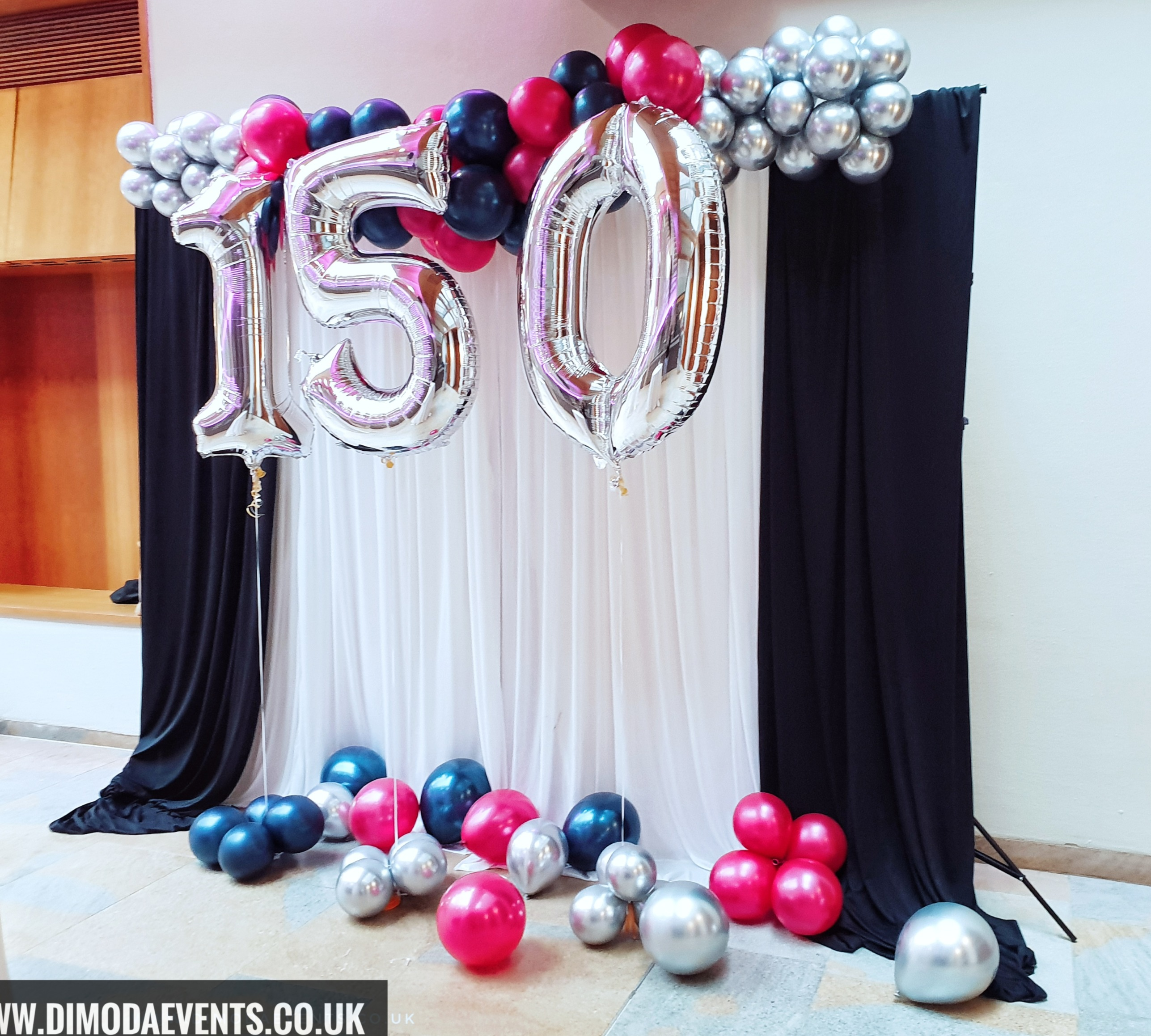 Birthday Number Backdrop - SILVER