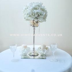 White flower antique