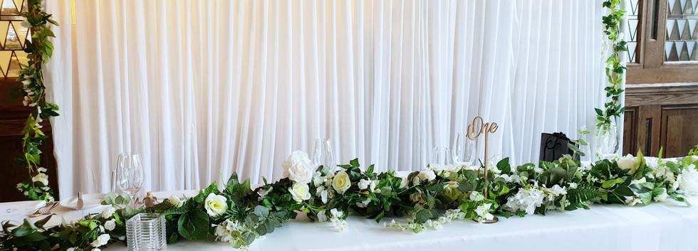 Premium foliage garland backdrop