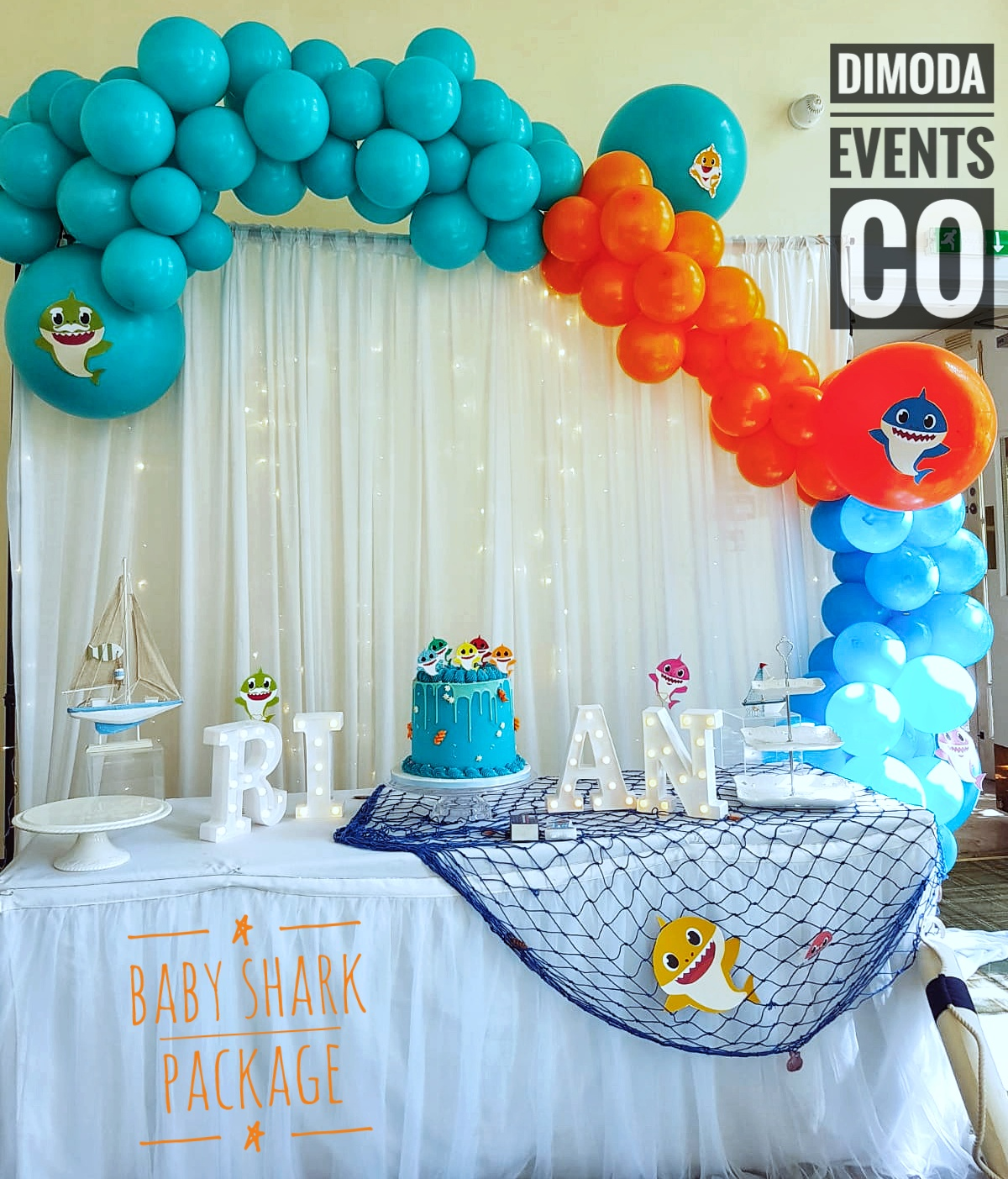 Baby Shark Cake Table Package