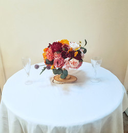 Floral compote dish - Autumnal