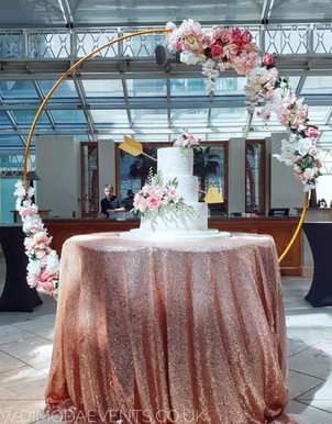 Large Hoop Floral Backdrop