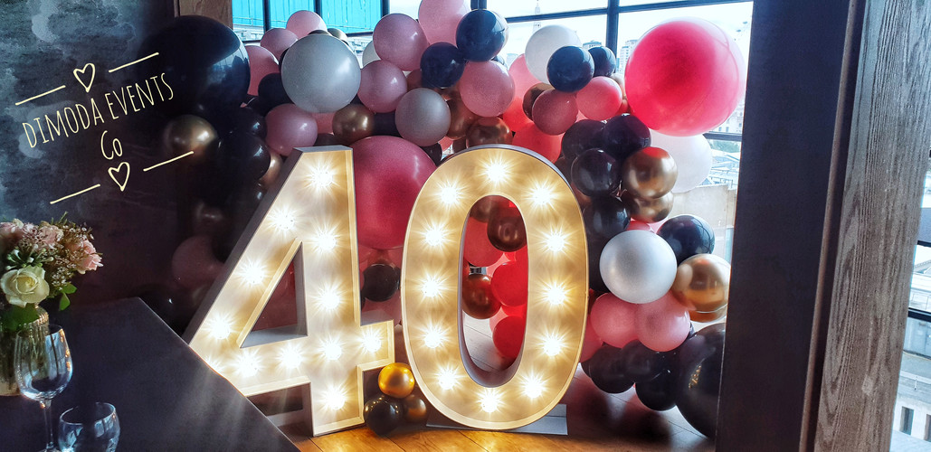 Balloon Wall and LED Number