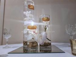 Cylinder Trio White/Gold